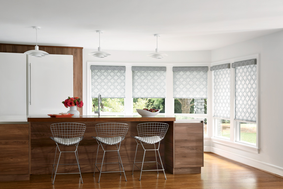 customized kitchen roller shades