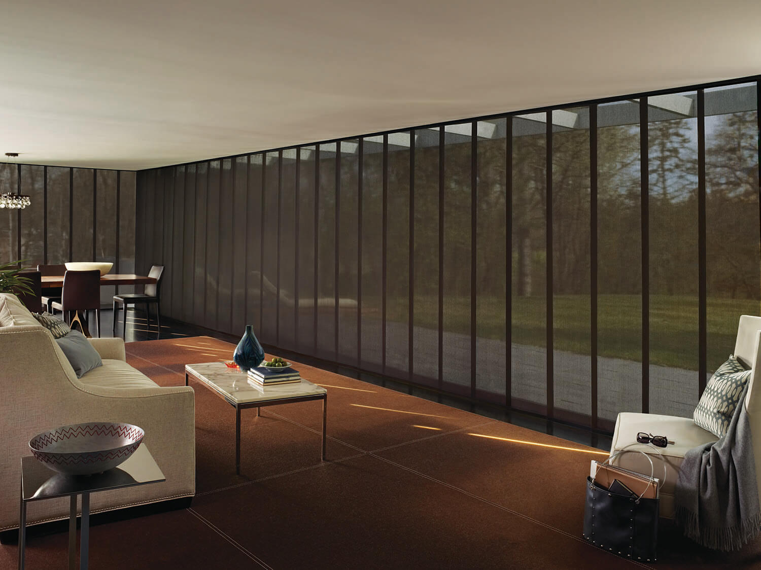 Sheer Skyline Gliding Window Panels